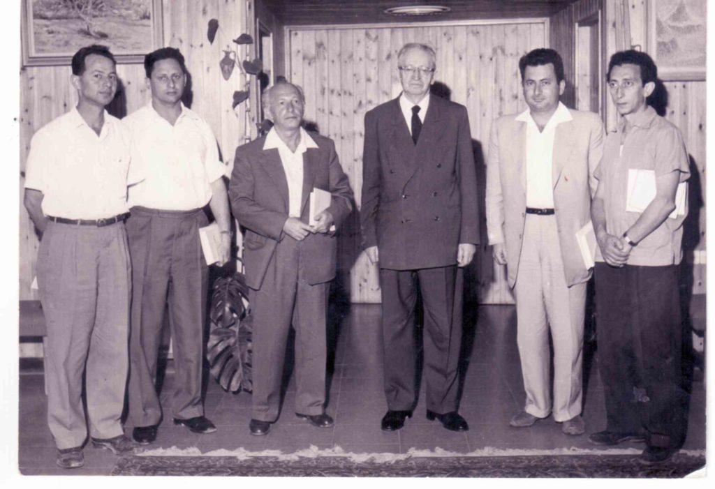 סוף שנות ה-50 עם הנשיא בן צבי וקובנר