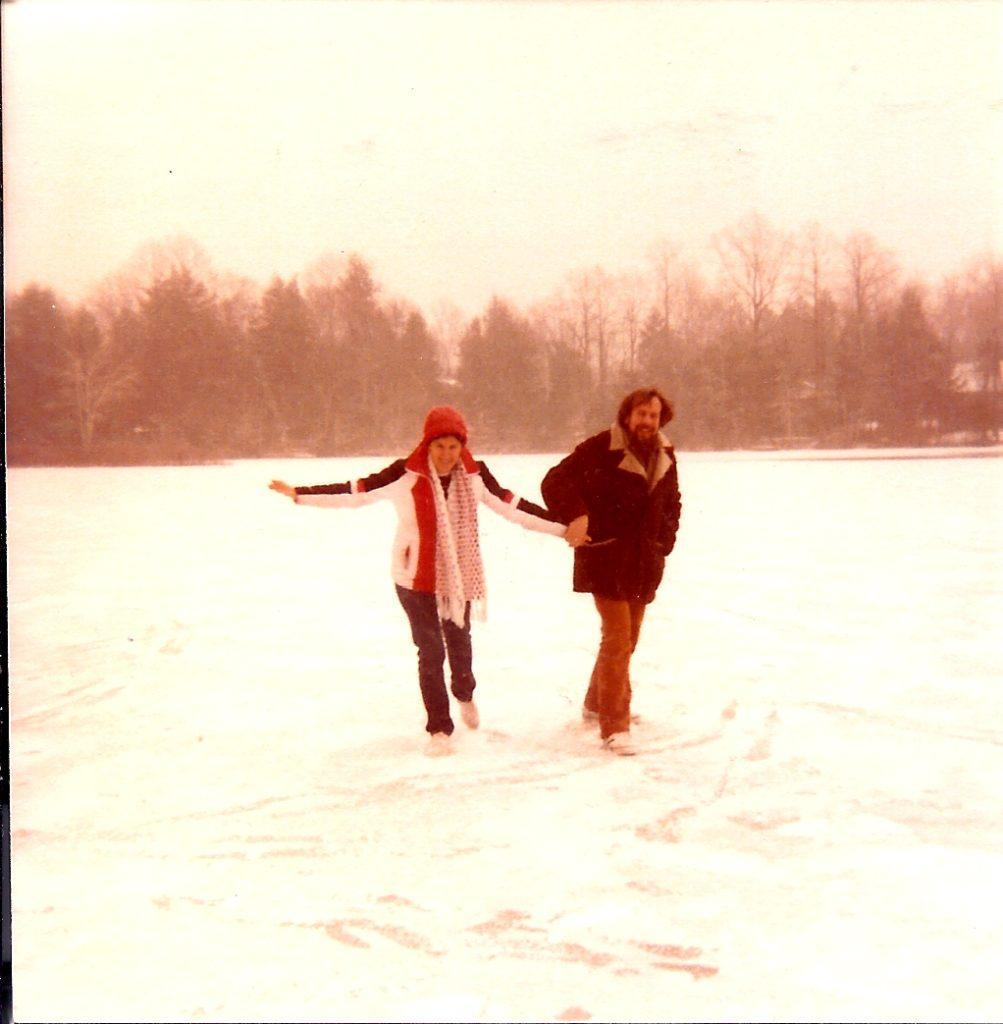 danbury.1980.with noki on iced lake