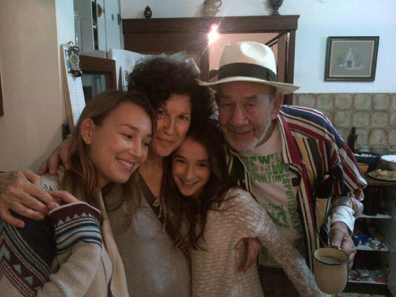 itzik and noki with 2 of 7 grandchildren, noam and zohar